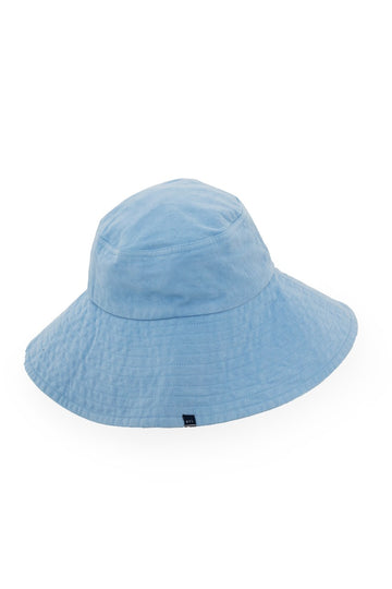 By The Sea Bali Ladies Wide Brim Hat Blue Basic