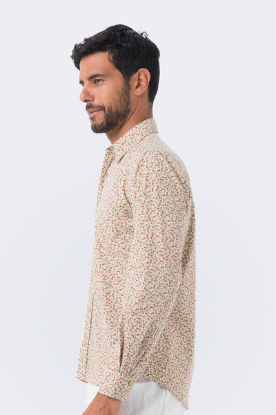 By The Sea Bali Liberty Shirt L/S Brown