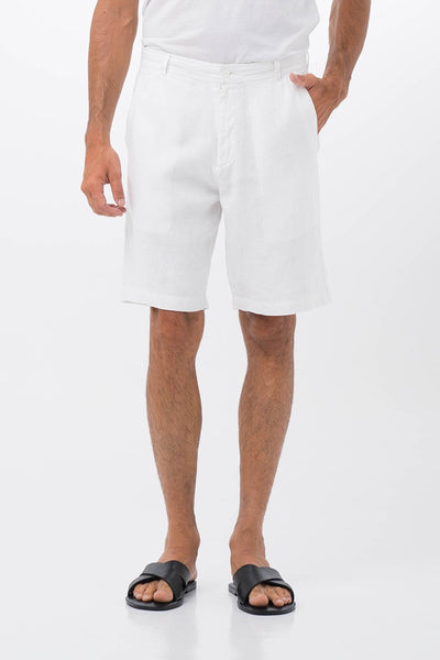 By The Sea Bali Linen Bermuda White