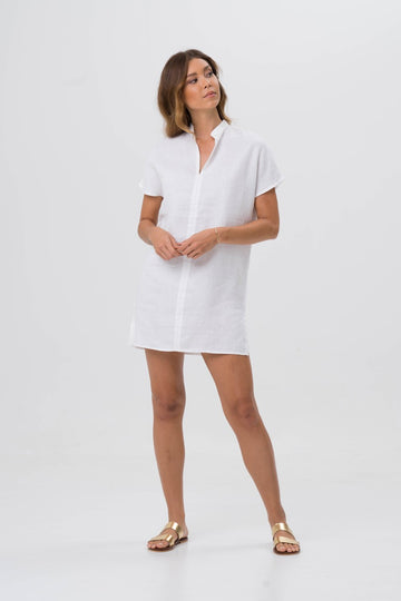 By The Sea Bali Linen Drika Tunic White