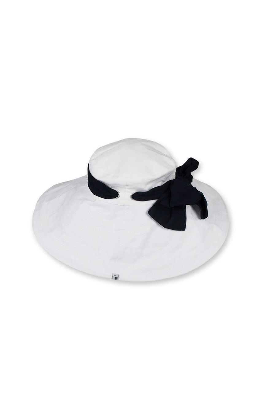 By The Sea Bali Linen Hat With Snood