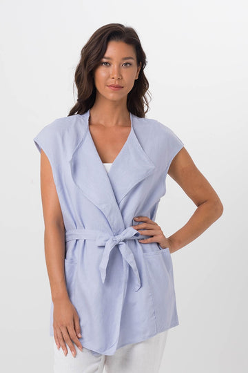By The Sea Bali Linen Summer Outer Blue