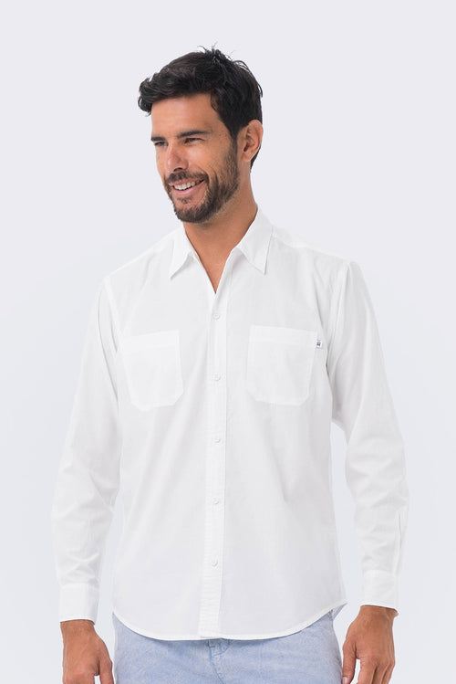By The Sea Bali Marcel Shirt L/S White