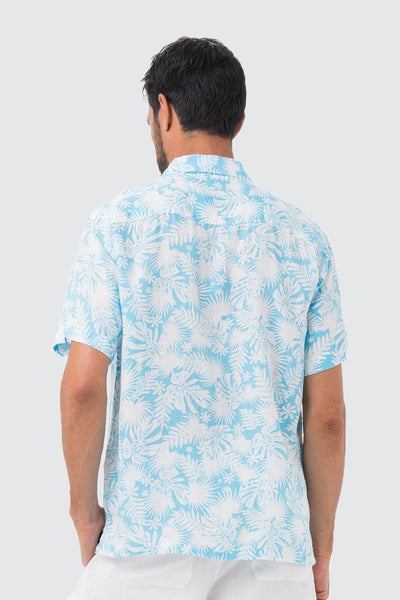 By The Sea Bali Maui Linen Shirt S/S Aqua