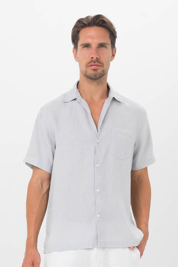 By The Sea Bali Maui Linen Shirt S/S Grey