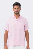 By The Sea Bali Maui Linen Shirt S/S Pink