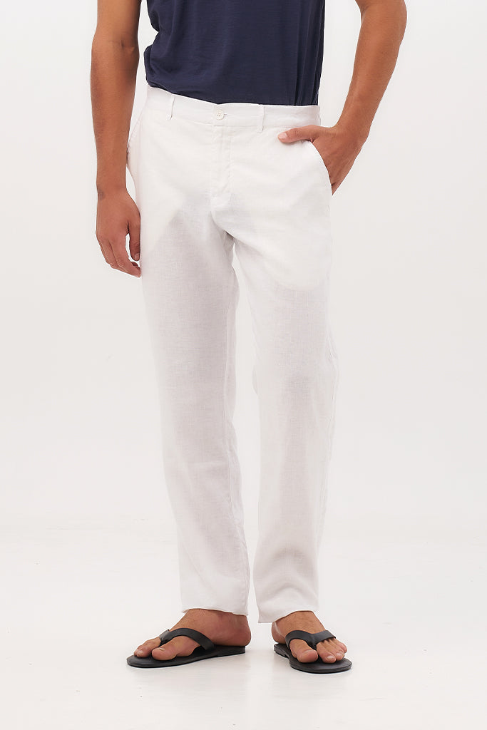 By The Sea Bali Maury Linen Long Pants