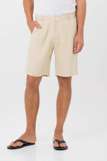 By The Sea Bali Men Linen Bermuda Camel
