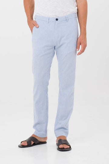 By The Sea Bali Men's Slim Soft Long Pants Blue