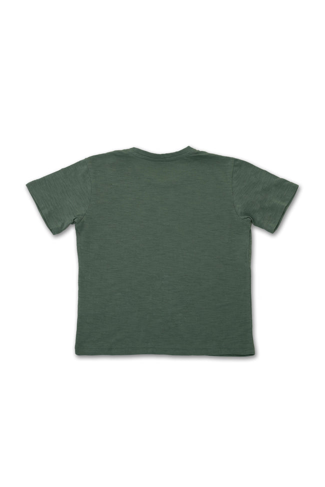 Kids printed T-shirt Green Beach