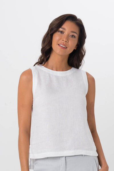 By The Sea Bali Melody Top White
