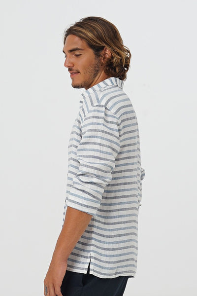 By The Sea Bali Sulien L/S Linen Shirt