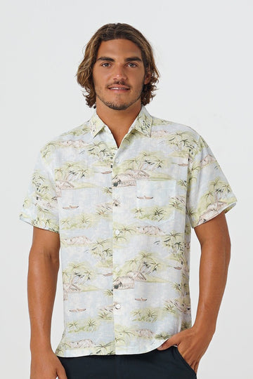 By The Sea Bali Slim Fit Linen Shirt