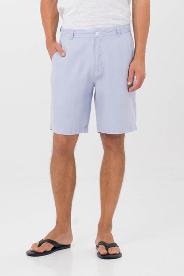 By The Sea Bali Men Linen bermuda Blue