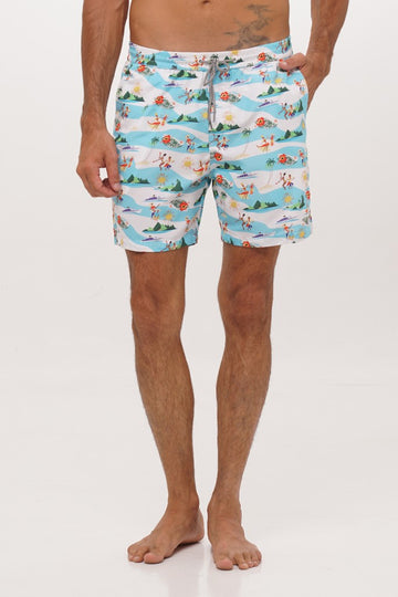 By The Sea Bali Men's Swim Trunk