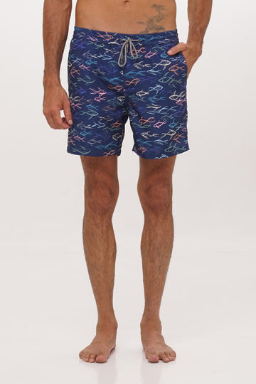By The Sea Bali Men's Swim Trunk Navy