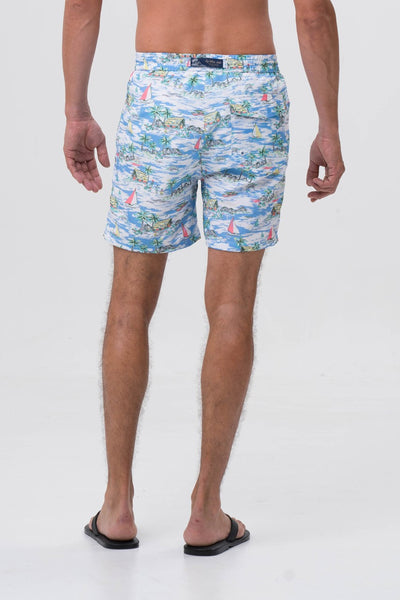 By The Sea Bali Men's Swimming Trunk Blue