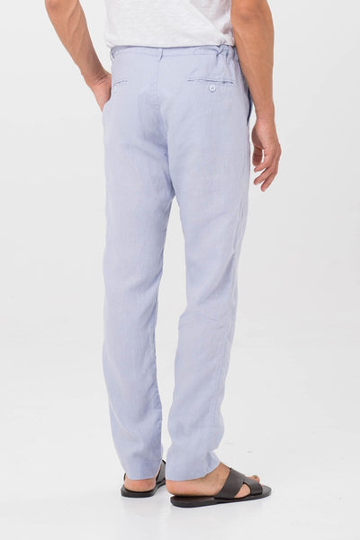 By The Sea Bali Mens Linen Trousers Blue