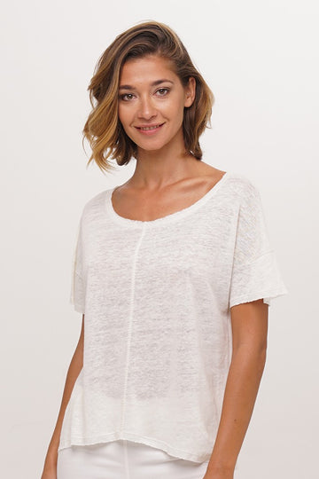 By The Sea Bali Mentawai Linen Crop Top