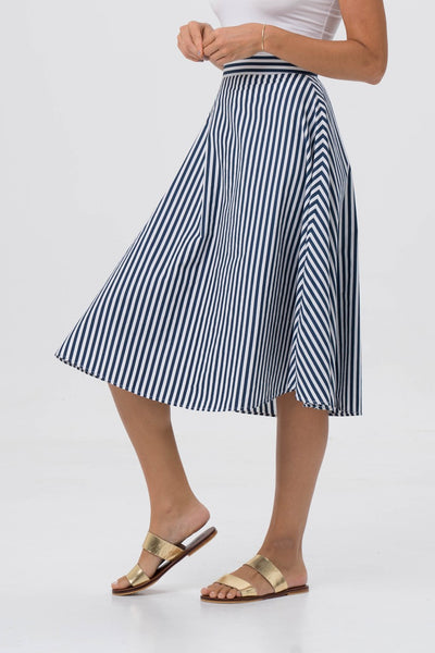 By The Sea Bali Midi Stripe Skirt