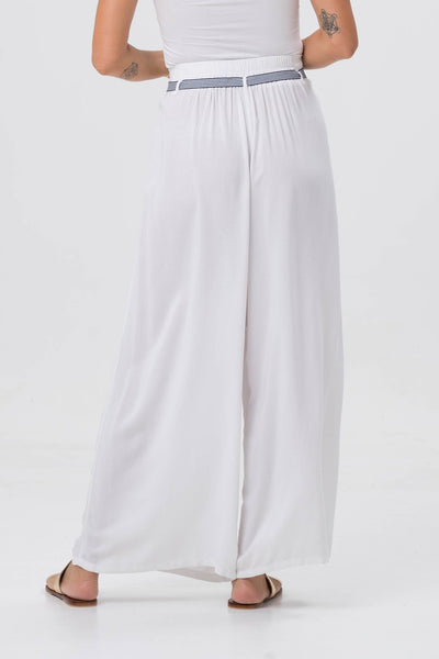 By The Sea Bali Mykonos Wide Long Pants White