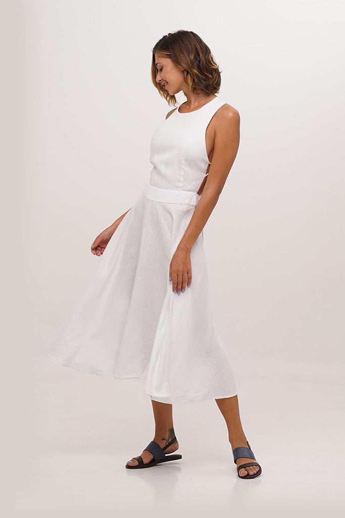 By The Sea Bali Pearl Linen Dress