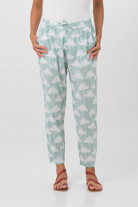 Cigarette Floral Pants
