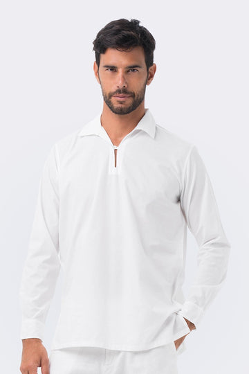 By The Sea Bali Poet White Shirt L/S