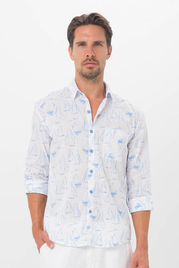 By The Sea Bali Porto Shirt Sail Boat
