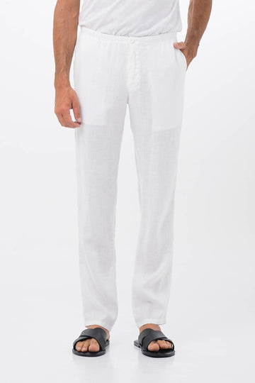 Relax Linen Long Pants White