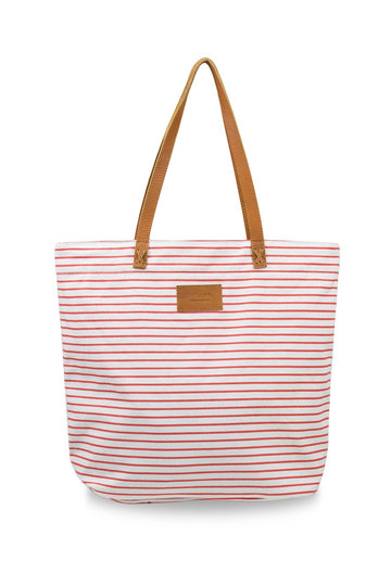 Sapphire Stripe Bag Coral (Large)