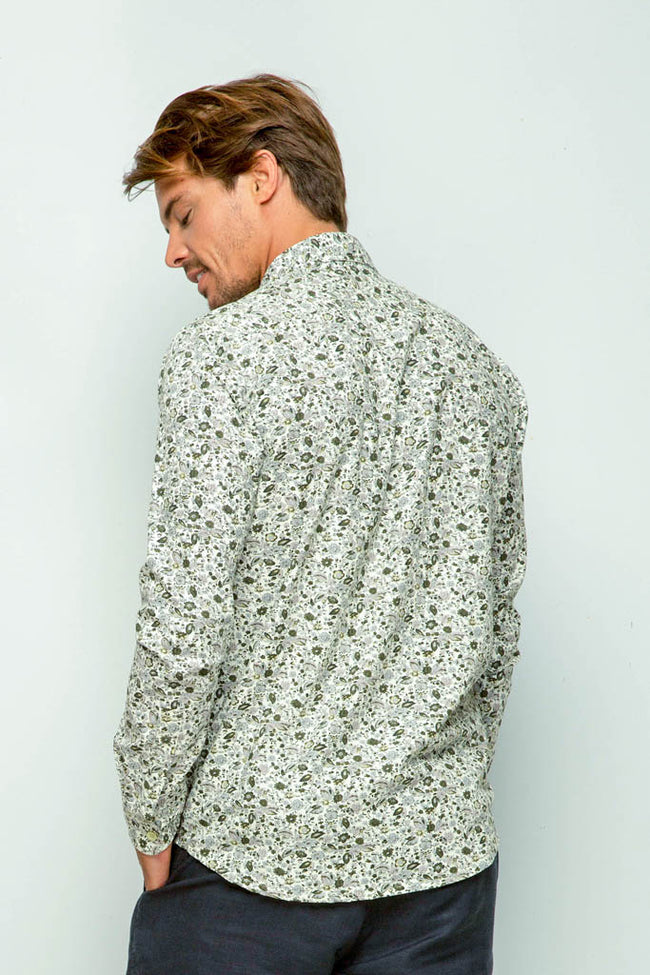 Liberty Flower Shirt L/S White