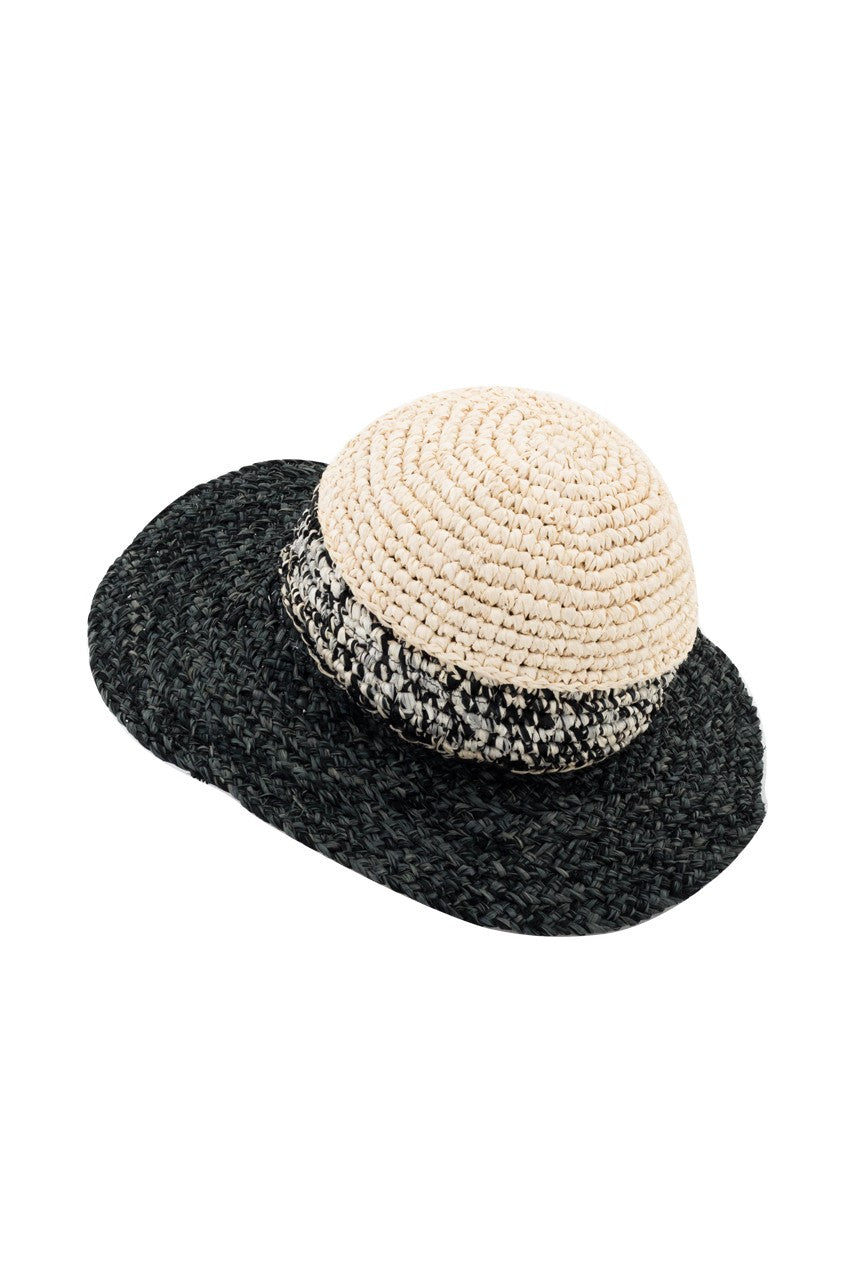 By The Sea Bali Stripe Fedora Hat
