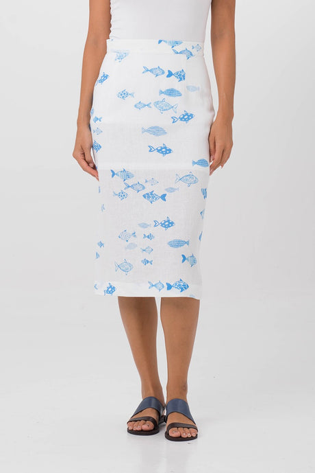 By The Sea Bali Saint Lucia Midi Skirt