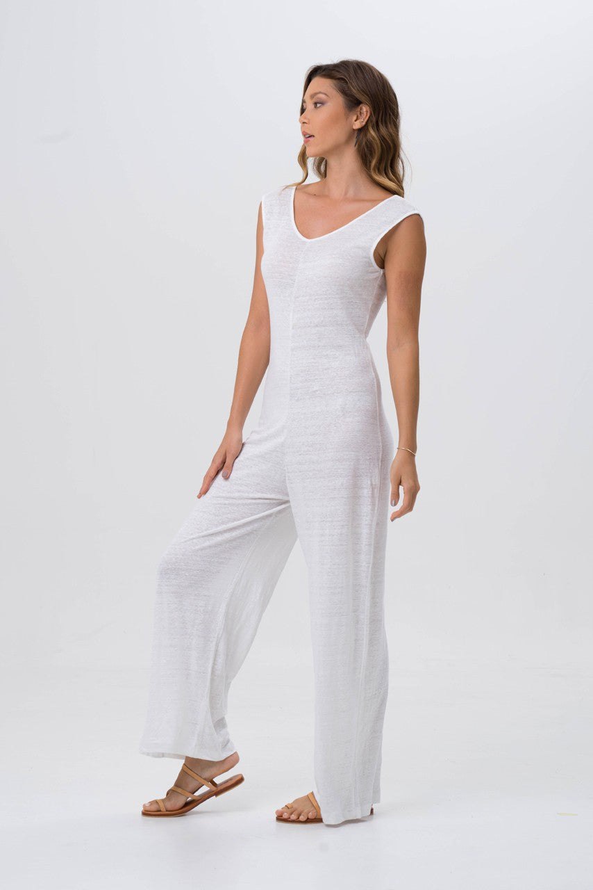 By The Sea Bali Sayulita Linen Jumpsuit
