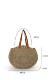 By The Sea Bali Straw Round Bag