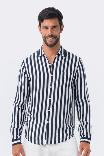 By The Sea Bali Syros Linen Slim Fit L/S Shirt