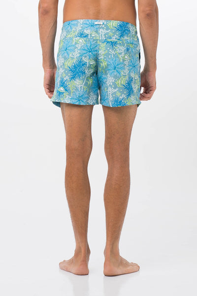 Tropical SwimTrunk Blue