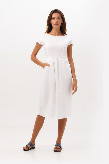 By The Sea Bali Raizel Linen Midi Dress