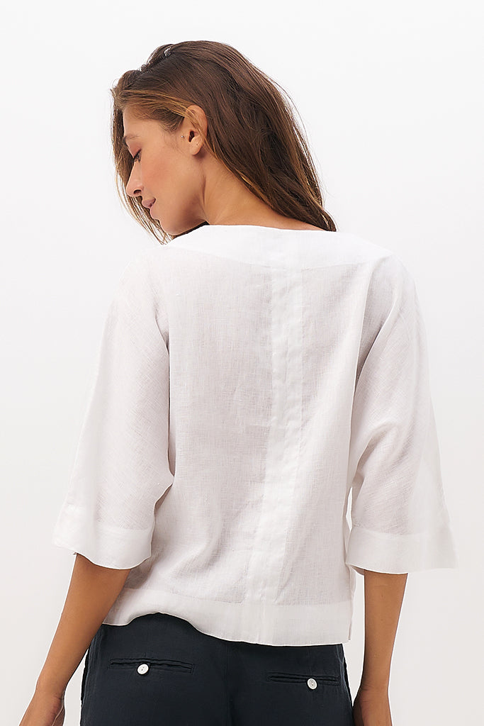 By The Sea Bali Niley Linen Top