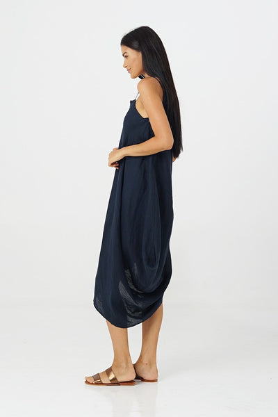 By The Sea Bali Harp Linen Dress