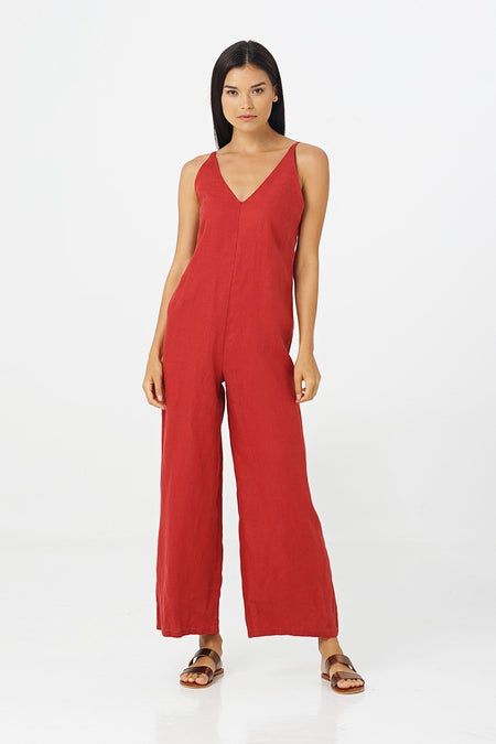 Kyla Long Linen Jumpsuit