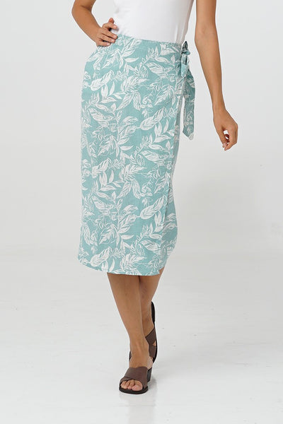 By The Sea Bali Kofiau Wrap Linen Skirt