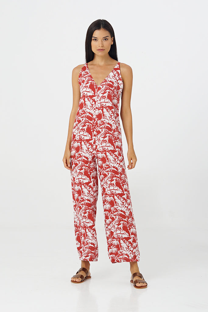 By The Sea Bali Soleil Linen Jumpsuit