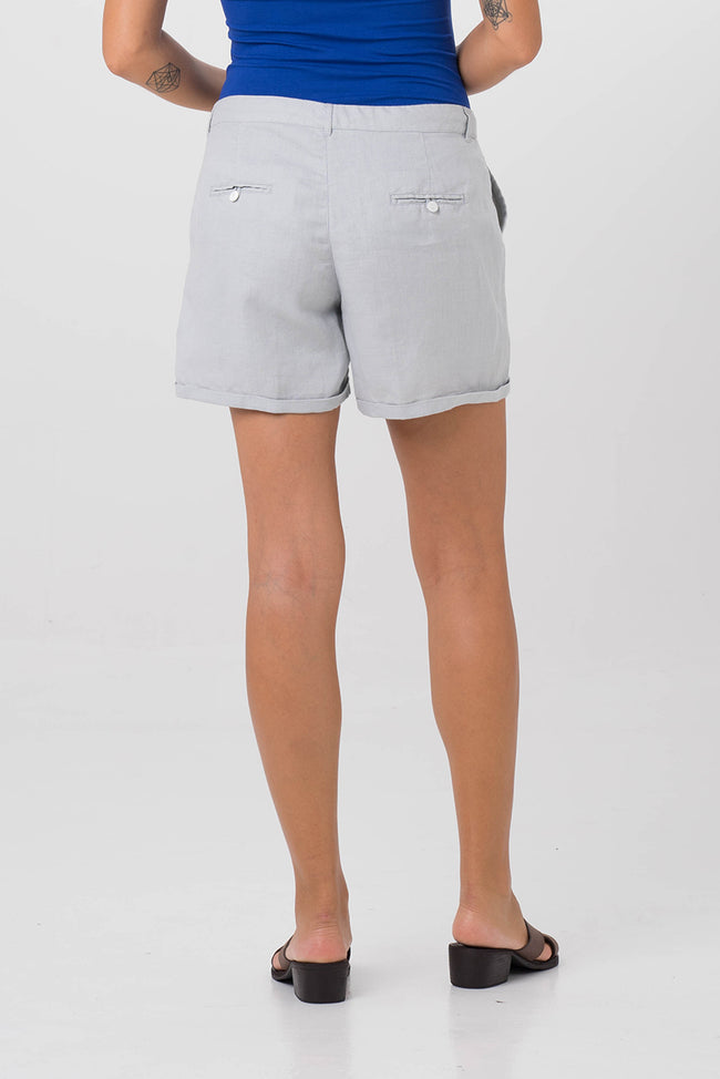 Linen short pants Grey
