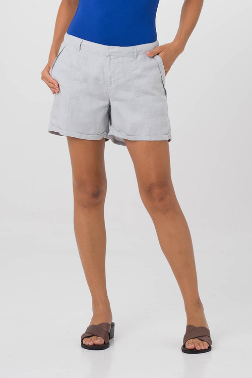 By The Sea Bali Linen Short Grey