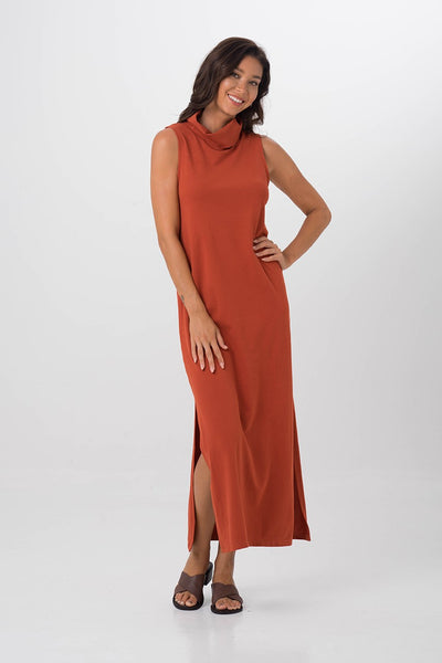 By The Sea Bali Formosa Maxi Tube Dress Brick