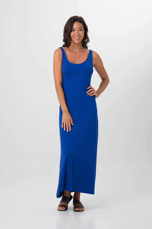 Roxas Low back maxi dress Blue