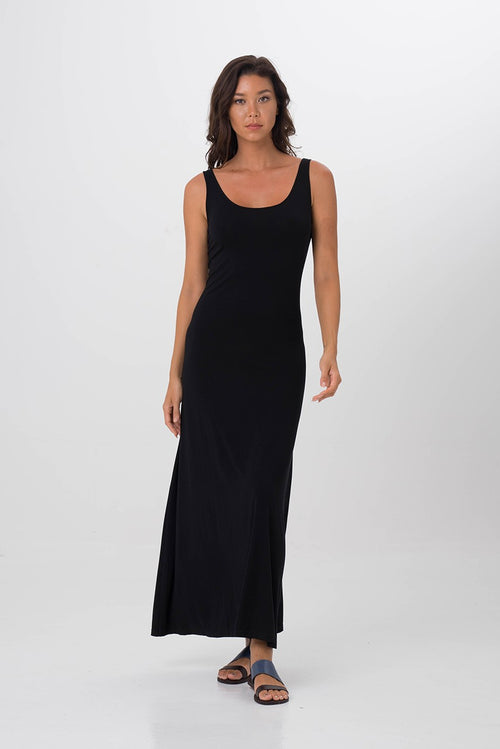 Roxas Low back maxi dress Black