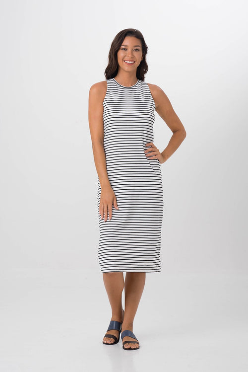 By The Sea Bali Caprera Stripe Dress White